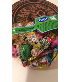‼️‼️‼️ цукерки фасовані шоколадні яйця та кролики «Only» 100 грам ( Австрія)