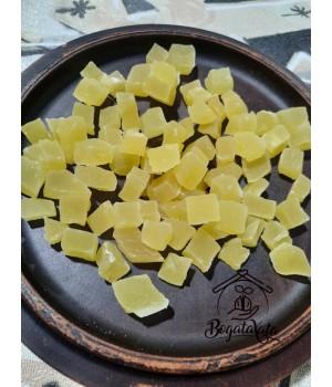 Цукаты кубики натурального цвета  со вкусом ананаса Тайланд