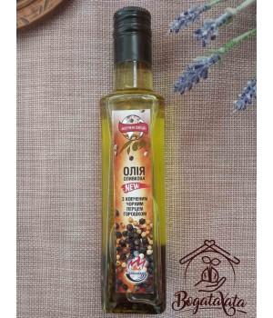 Масло оливковое с копченым перцем горошком 200мл