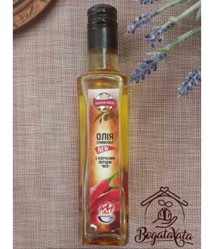 Масло оливковое с копченым перцем чили целым 200 мл