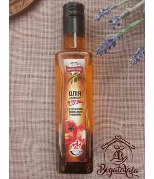 Масло оливковое с копченым резаными томатами 200мл